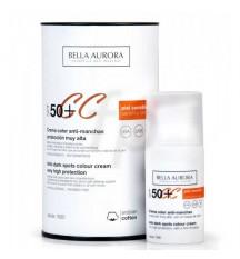 Bella Aurora CC Cream 50+ Piel Sensible - Protectora con un Toque de Color