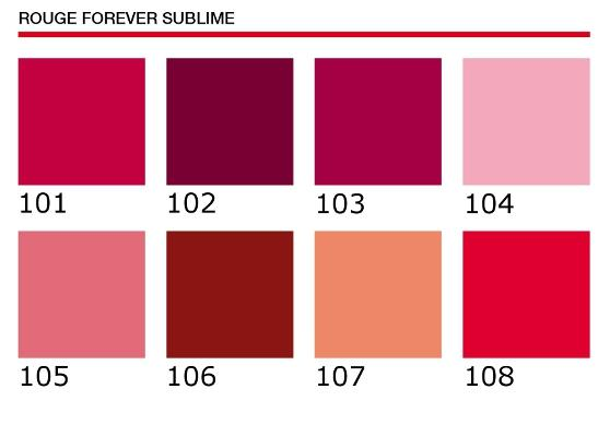 Tonos Rouge Forever Sublime
